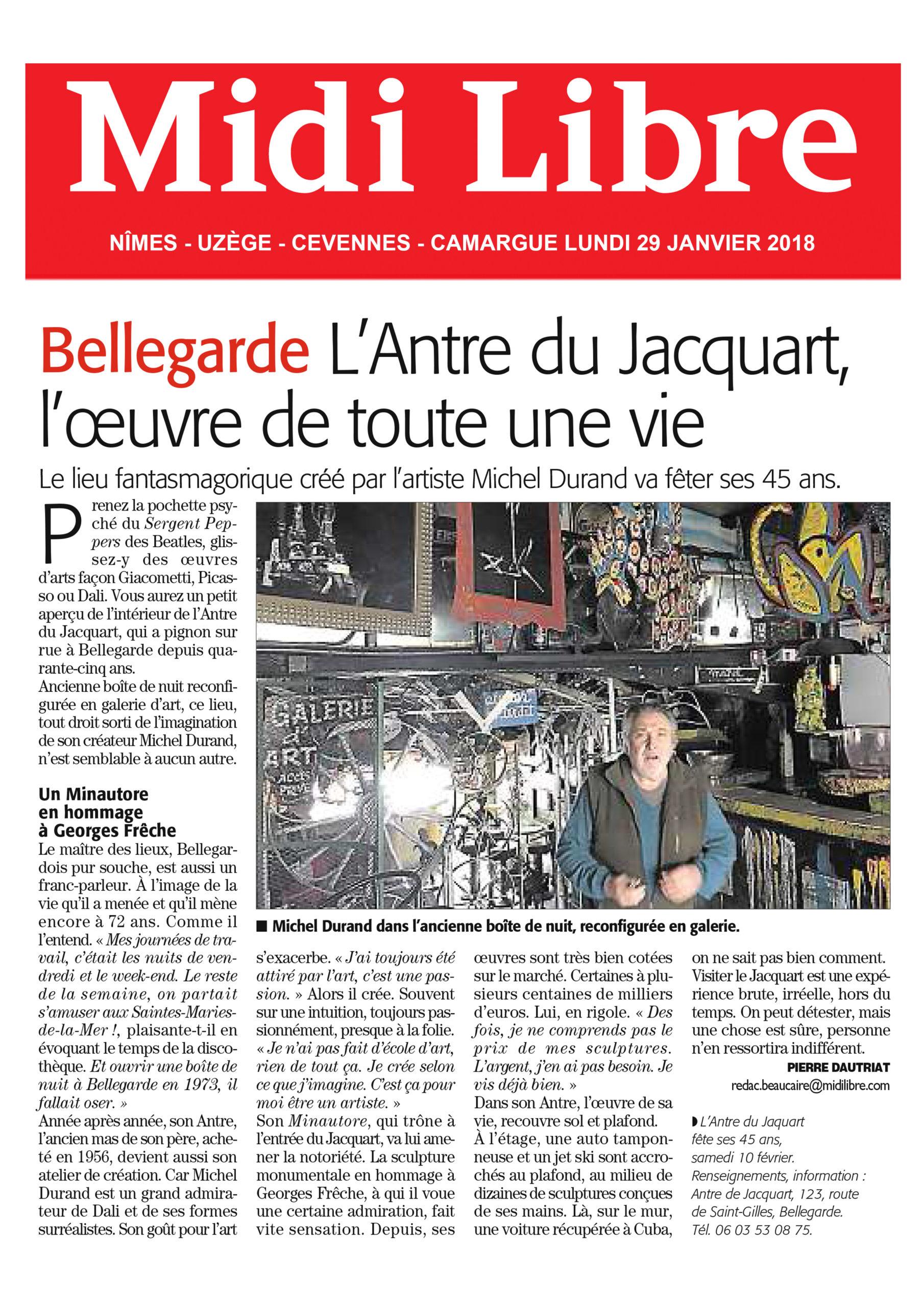 L'Antre du Jacquart - Award for Lifetime Achievement [FR]