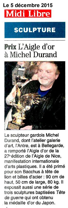 Prix: l'Aigle d'OR