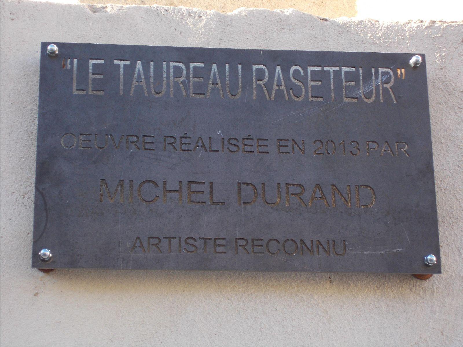 """Acquisition du """"Taureau Raseteur"""" par la mairie de Bellegarde"""